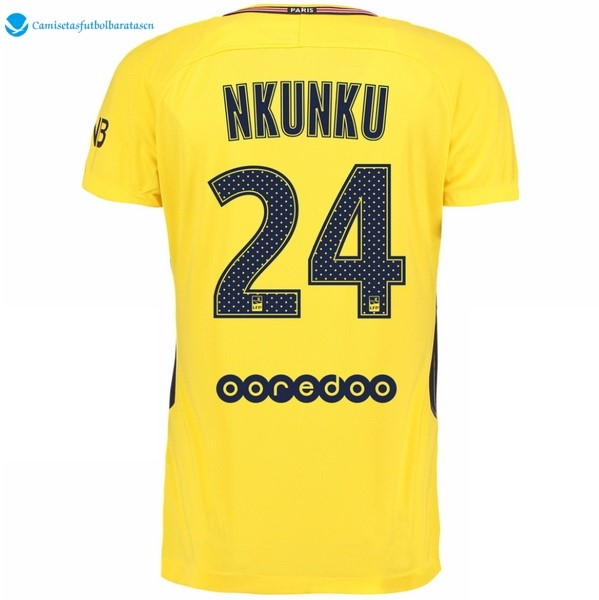 Camiseta Paris Saint Germain Segunda Nkunku 2017/2018